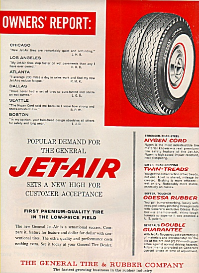 General Jet-air Tire Ad 1961