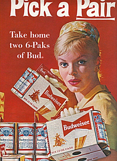 Budweiser Beer Ad 1961