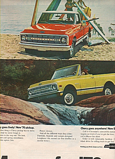 Chevrolet  trucks for 1970 (Image1)