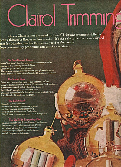 Clairol;s gift collections ad 1968 (Image1)