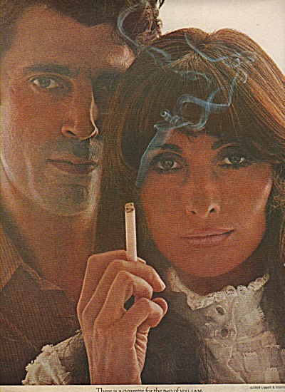 L & M cigarettes ad 1969 HIPPIE COUPLE (Image1)