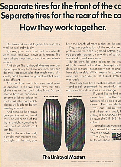 The Uniroyal Masters tires ad 1969 (Image1)