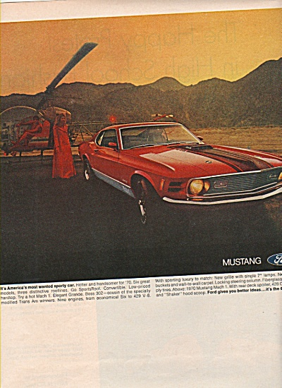 Ford Mustang ad - for 1970 (Image1)