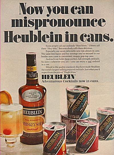 Heublein cocktails ad 1969 (Image1)