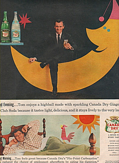 Canada Dry Ginger Ale Ad 1957 Tom And His Highball
