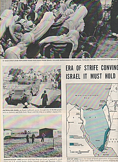 Era of strife convinces ISRAEL  it must hold on - 1957 (Image1)