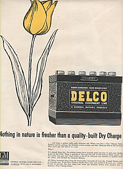 Delco Batteries Ad 1957