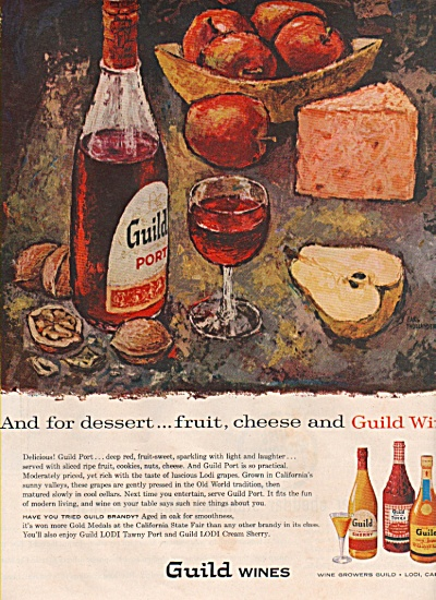 Guild Wines Ad 1957