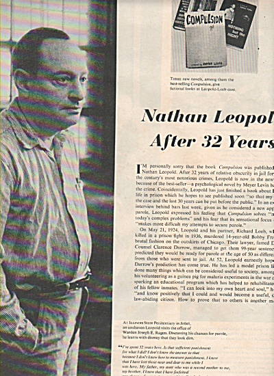 NATHAN LEOPOLD  after 32 years. (Image1)