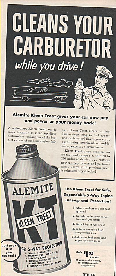 Alemite carbureter cleaner ad 1957 (Image1)