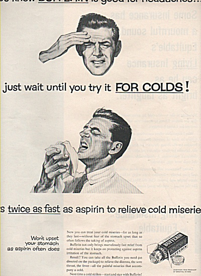 Bufferin tablets ad 1957 (Image1)