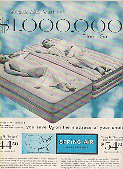 Spring Air Mattresses ad 1957 (Image1)