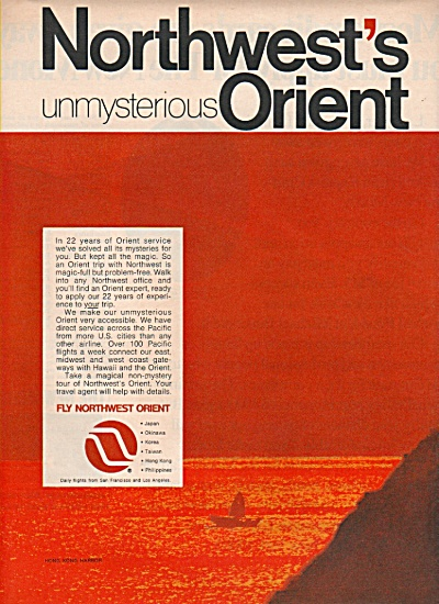 Northwest Orient airline ad 1970 (Image1)