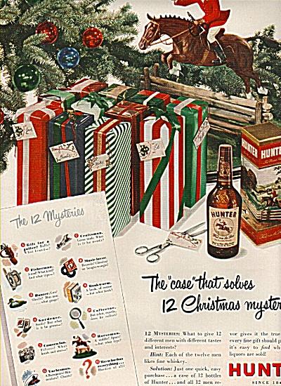 Hunter whiskey ad CHRISTMAS MYSTERY (Image1)