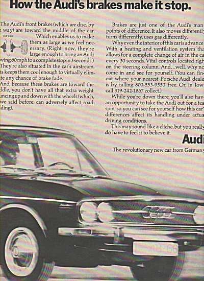 AUDI  car from Germnany ad 1970 (Image1)
