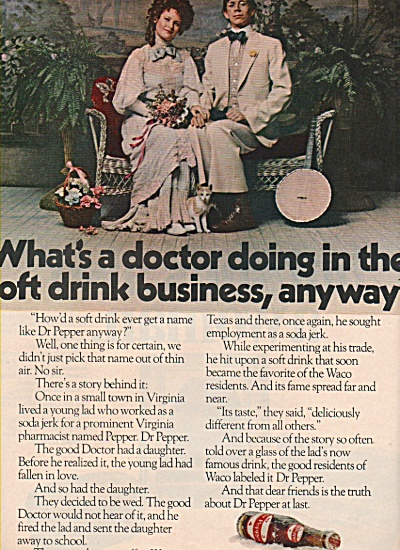 Dr. Pepper drink ad 1970 (Image1)