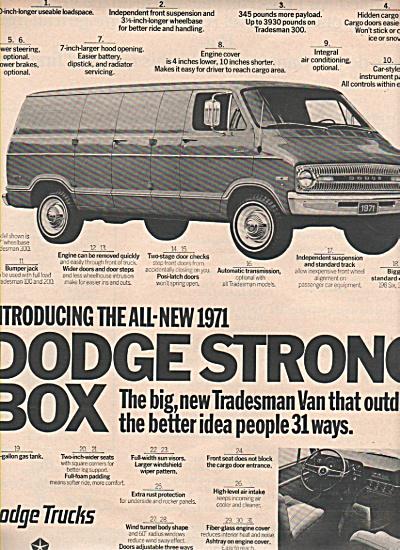 Dodge Tradesman van ad 1970 (Image1)