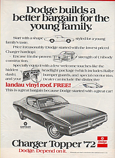 Dodge Charger ad 1972 (Image1)