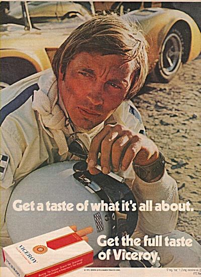 Viceroy cigarettes ad 1972 AUTO RACES (Image1)