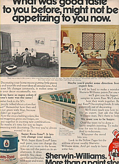 1972 Sherwin Williams paint ad Decor Transformation (Image1)