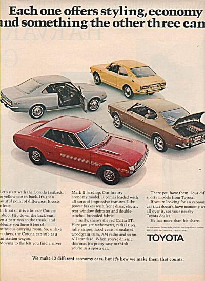 Toyota auto ad 1972 (Image1)