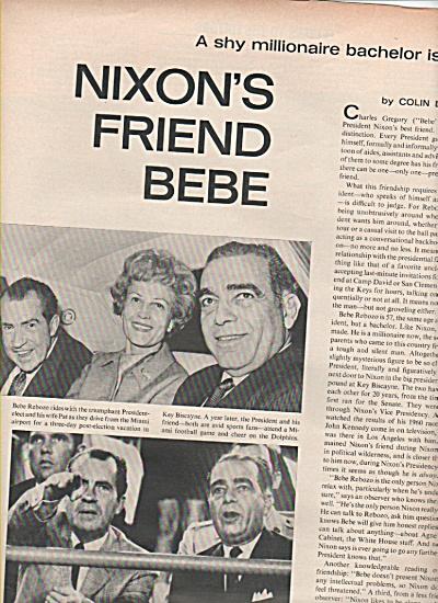 BEBE REBOZO,  Pres. Nixons friend story 1970 (Image1)