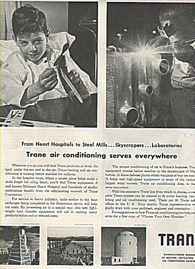 Trane Manufacturing Engineers Ad 1952