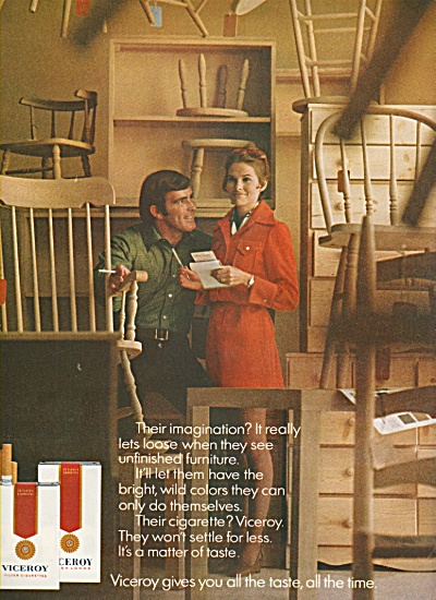 Viceroy cigarettes ad 1970 ALL THE TIME (Image1)