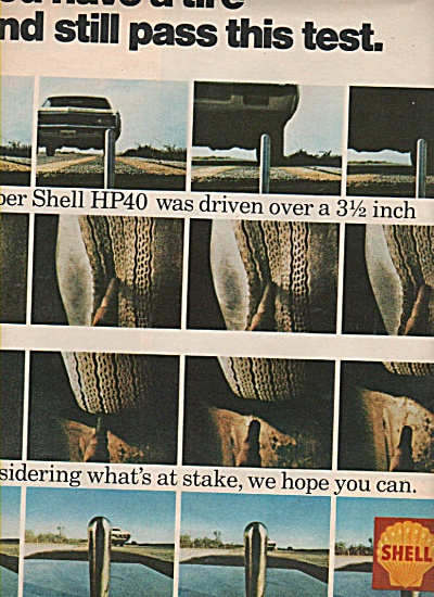 Shell Gasoline - Tires. Ad 1970