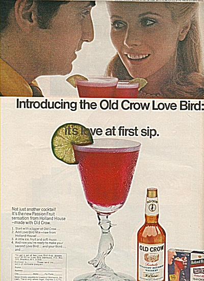 Old Crow straight bourbon whiskey ad 1970 (Image1)