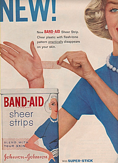 Band-Aid  - Johnson & Johnson - ad 1958 (Image1)