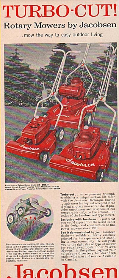 Jacobsen rotary mowers ad 1958 (Image1)