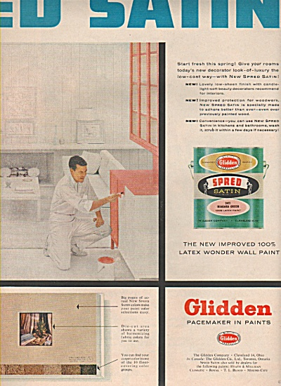 Glidden pacemaker in paints ad 1958 (Image1)