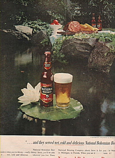 National Bohemian Beer Ad 1958