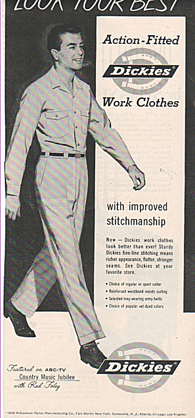 Dickies Work Clothes Ad 1958