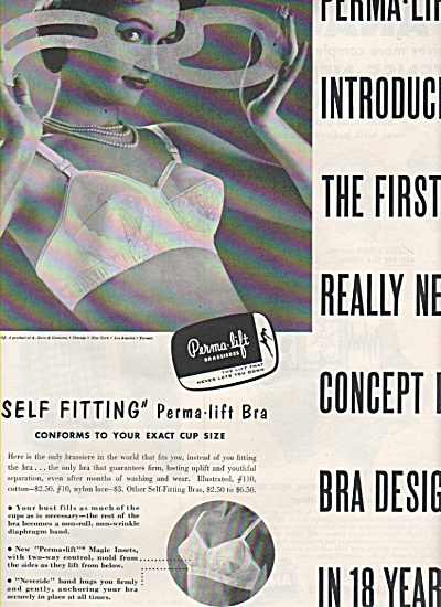 Perma Lift Brassieres Ad 1958