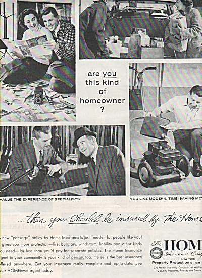 Home Insurance company ad 1958 (Image1)