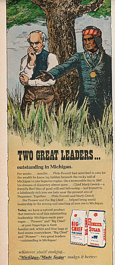 Big Chief & Pioner Sugar Ad 1971