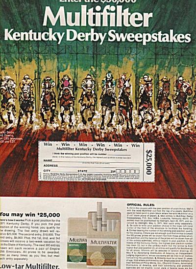 Mul;tifilter menthol cigarettes ad 1971 (Image1)