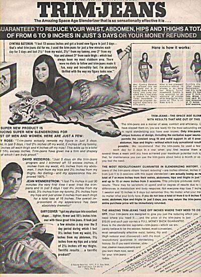 Trim Jeans - Saunta belt - ad 1971 (Image1)