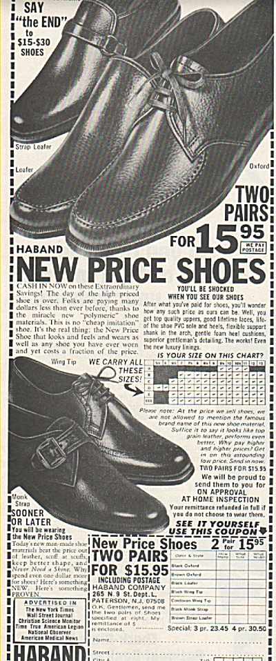 Haband shoes ad 1971 (Image1)