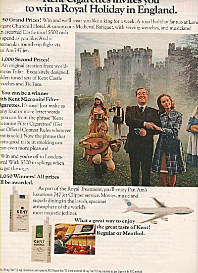 Kent Menthol cigarettes ad 19781 (Image1)