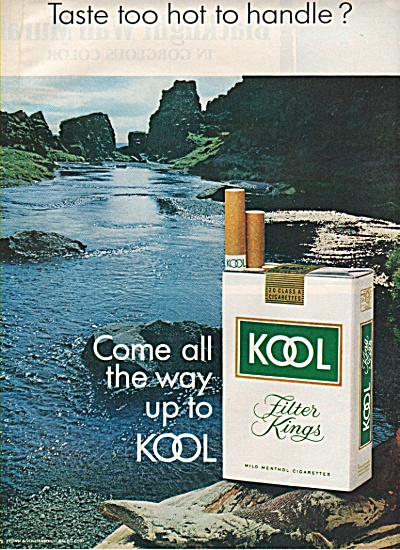 Kool filter kings cigarettes ad 1971 (Image1)