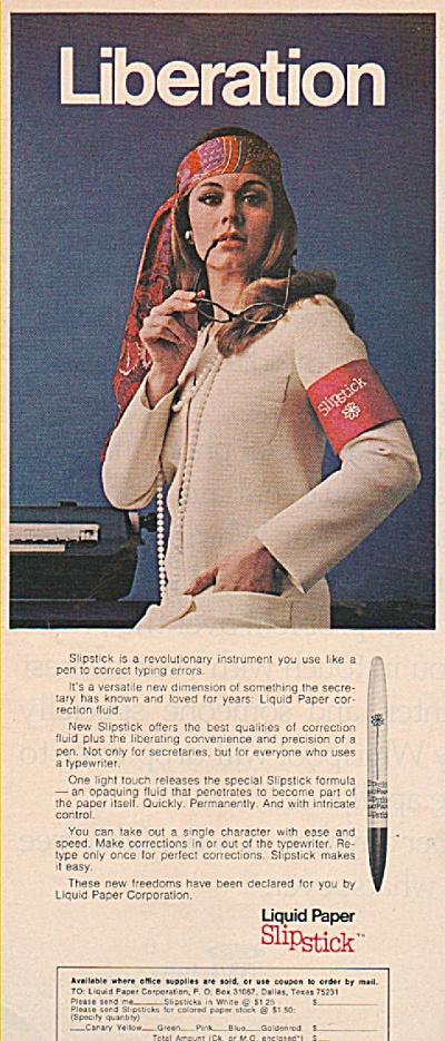 Liquid Paper slipstick ad 1970 (Image1)