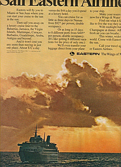 Eastern Airlines Ad 1970