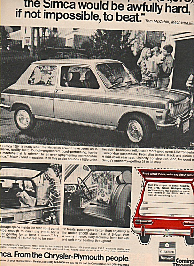 Simca automobile ad 1970 (Image1)