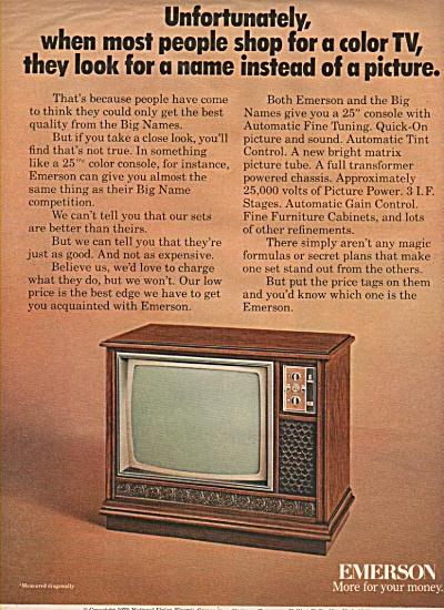 Emerson television ad 1970 (Image1)