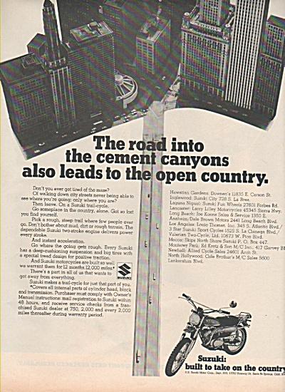 Suzuki motorcycle ad 1970 CYCLE (Image1)
