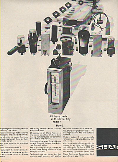 Sharp electronics corporation ad 1970 (Image1)