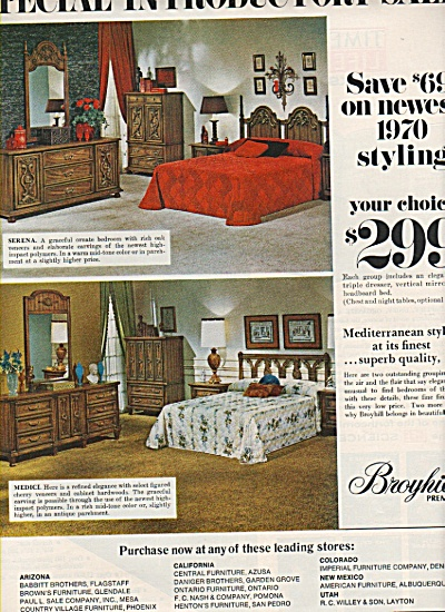 Broyhill premier furniture ad  1970 (Image1)